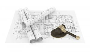 Constuction Plans and Gavel